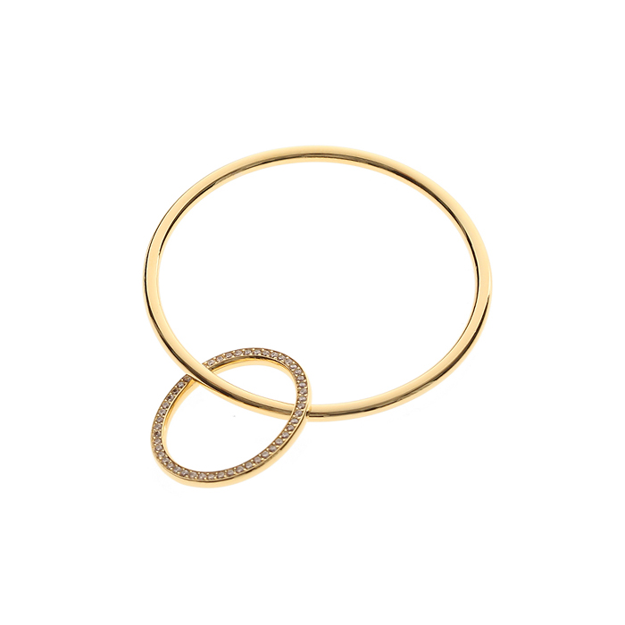 24/7 Circle Line Crystal Bangle