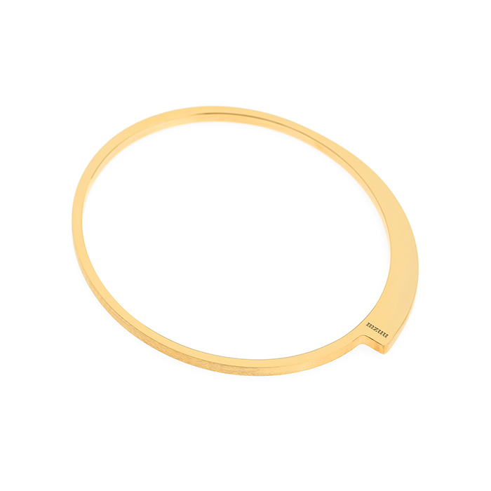 24/7 Double Texture Ellipse Bangle