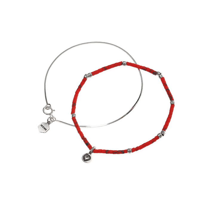 Silver Gemstone Bracelet Set A