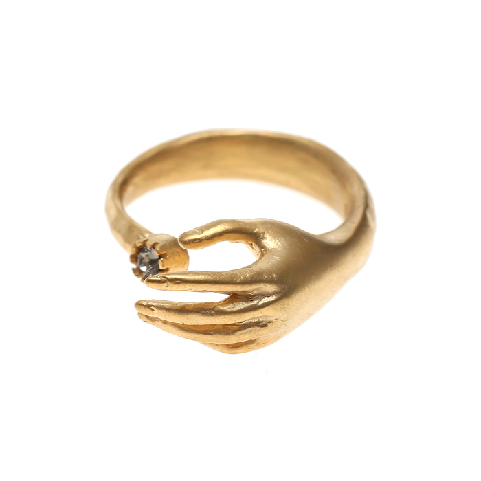 Lover Hand Crystal Ring