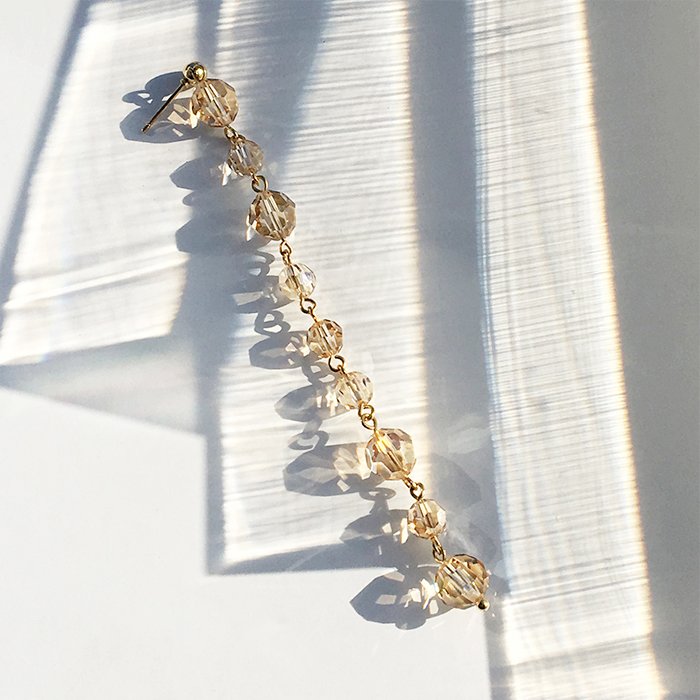 <b>Holiday Limited Edition</b><br>9 Layers Crystal Drop Single Earring