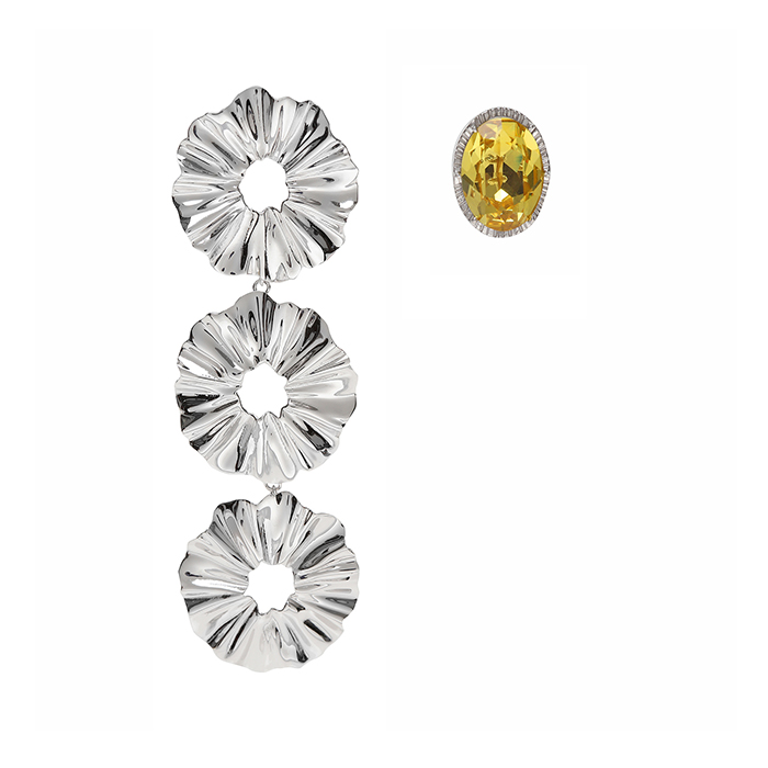 Fantasia Crystal and 3 Layers Earrings