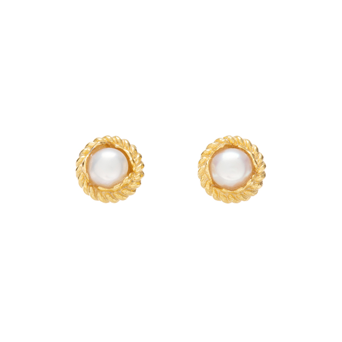 Midnight Sun Mini Pearl Earrings