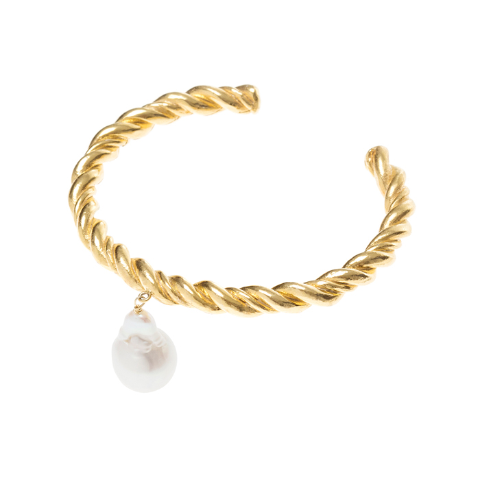 Midnight Sun Rope and Pearl Cuff