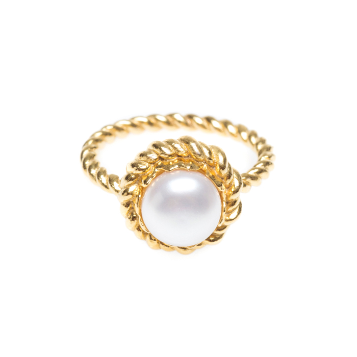 Midnight Sun Pearl Ring