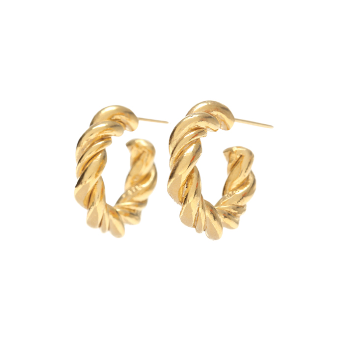 <b>'남자친구' 송혜교 귀걸이</b><br>Midnight Sun Small Braid Hoop Earrings