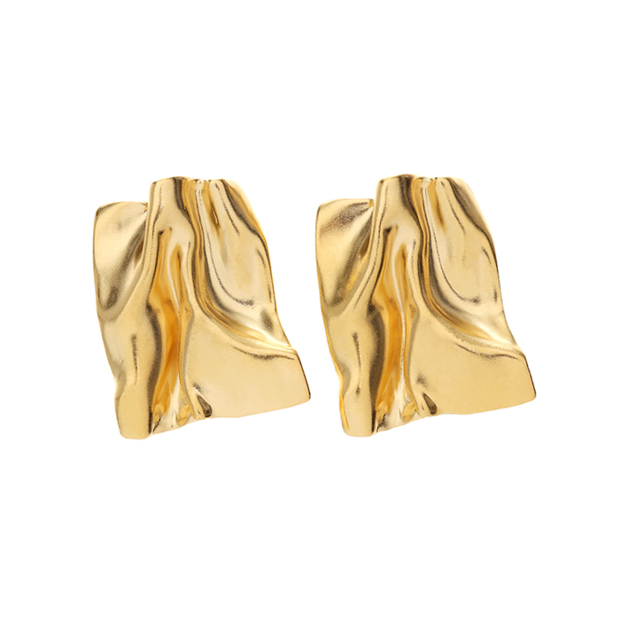 Flow Large Wave Square Earrings